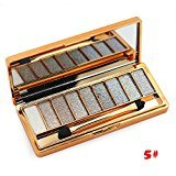 Tmalltide Natural Nudes Professional 9 Colors Diamond Bright Colorful Eye Shadow Super Flash Shimmer Eyeshadow Colour Concealer Palette Gift Bundle(5#)