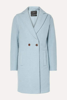 J.Crew Daphne Wool-felt Coat - Light blue