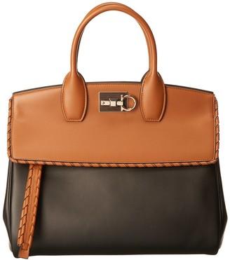 Salvatore Ferragamo Studio Leather Satchel