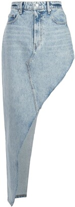 Alexander Wang High Rise Asymmetric Denim Skirt