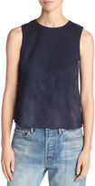 Vince Cropped Lamb Suede Shell