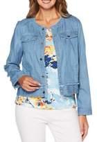 Rafaella Front-Snap Denim Jacket