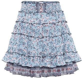 Poupette St Barth Amora floral cotton miniskirt
