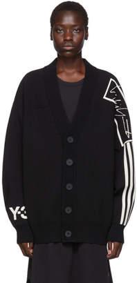 Y-3 Y 3 Black U Tech Knit Cardigan