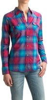 Roper Bright Ombre Plaid Shirt - Snap Front, Long Sleeve (For Women)