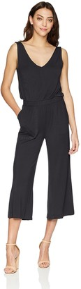 David Lerner Women's V-Neck Wide Leg Jumper