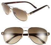 Gucci Women's Metal 58Mm Aviator Sunglasses - Brown/ Brown Gradient