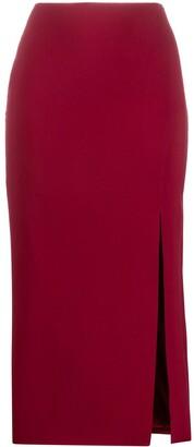 Valentino Side Slit Pencil Skirt