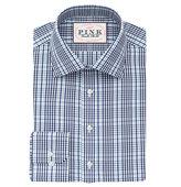 Thomas Pink Reid Check Slim Fit Button Cuff Shirt