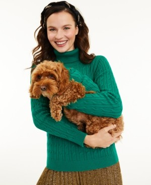 Charter Club Cable-Knit Turtleneck Sweater, Created for Macy's