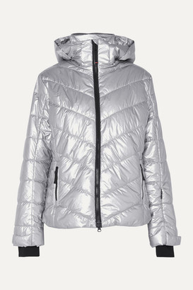 Bogner Fire & Ice BOGNER BOGNER FIREICE - Sassy2 Hooded Quilted Metallic Shell Ski Jacket - Silver