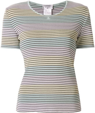 Chanel Pre Owned 1998 striped T-shirt