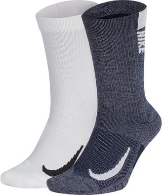 Nike Men's 2-pack Multiplier Crew Socks