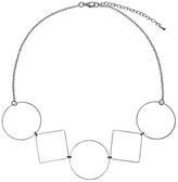 John Lewis Geometric Shape Necklace, Silver