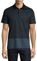 Burberry Block-Print Polo Shirt, Light Steel Blue
