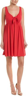 Susana Monaco Tie-Front A-Line Dress