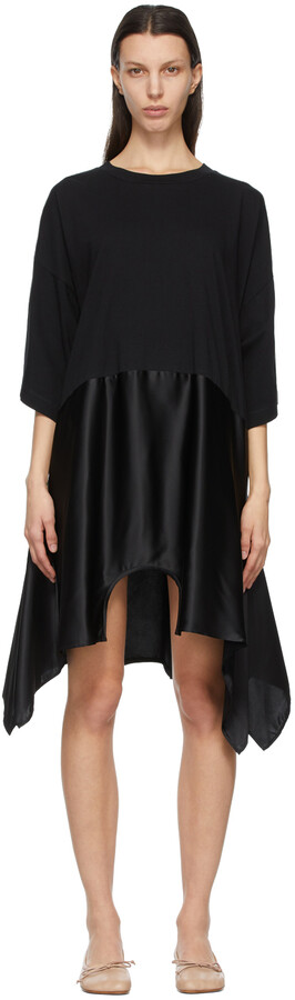 Thumbnail for your product : MM6 MAISON MARGIELA Black Dual Tee Dress