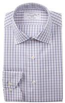 Lorenzo Uomo Multi Check Windowpane Trim Fit Dress Shirt