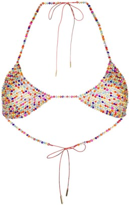 Alanui Beaded Triangle Bra