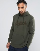 Antioch Curved Hem Hoodie with Towelling Script Logo