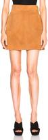 Frame Suede High A-Line Skirt