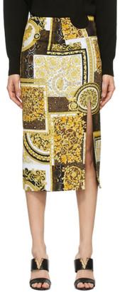 Versace Gold Pattern Skirt