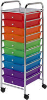 Honey-Can-Do 10-Drawer Multicolor Rolling Storage Cart