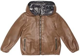 Brunello Cucinelli Kids Reversible leather jacket