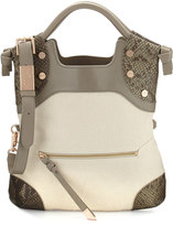 Foley + Corinna Cerberus Lady Fold-Over Tote Bag, Safari Snake Combo