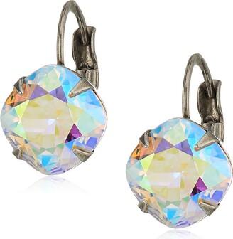 Sorrelli Essentials Crystal Ab Cushion Cut French Wire Drop Earrings