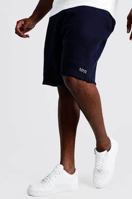 boohoo Mens Navy Big and Tall MAN Dash Skinny Fit Short, Navy