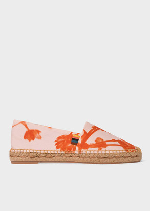 Paul Smith Women's Pink 'Screen Floral' Canvas 'Sunny' Espadrilles
