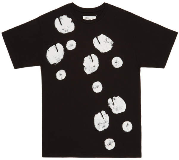 Maison Margiela SSENSE Exclusive Black Tabi Print T-Shirt