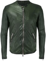Giorgio Brato - biker jacket - men - Cotton/Leather - 48