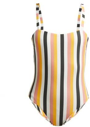 Asceno - Striped Basketweave Swimsuit - Womens - Multi Stripe