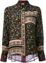 No.21 patchwork floral shirt