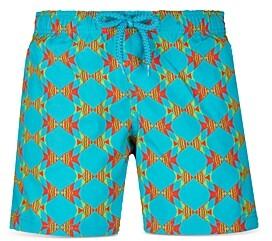 Vilebrequin Boys' Jirise Fish Print Swim Trunks - Little Kid, Big Kid