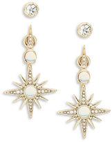 Nanette Lepore Starburst Front Back Earrings