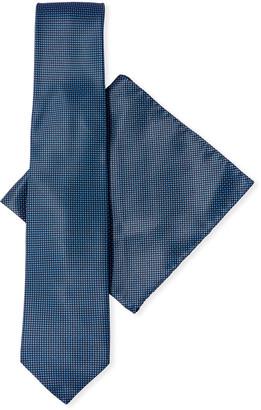Stefano Ricci Men's Neat-Print Tie & Pocket Square Set