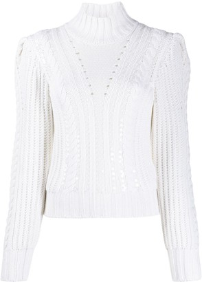 Dondup Cable-Knit Puff Sleeves Jumper