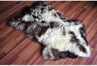 """Caban Animal Print Handmade 2'3"""" x 3'3"""" Sheepskin Beige/Brown Indoor / Outdoor Area Rug Millwood Pines"""