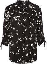 Dorothy Perkins Black Bird Print Shirt