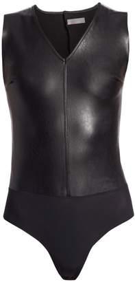 Commando Faux Leather Sleeveless Bodysuit
