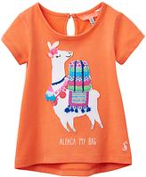 Joules Baby Joule Maggie Alpaca Applique Jersey Top, Coral