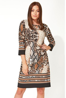 M&Co Roman Originals animal border print shift dress