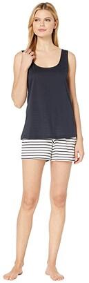 Hanro Laura Short Pajama (Midnight) Women's Pajama Sets