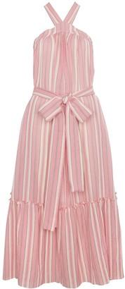 Three Graces Cotton Maxi Striped Dress