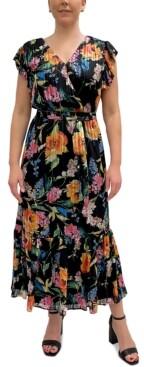 Sam Edelman Floral-Print Wrap Dress