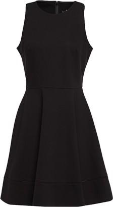 Kate Spade Flared Lattice-trimmed Stretch-jersey Mini Dress