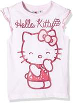 Hello Kitty Girl's Chuckle Short Sleeve Crew Neck T-Shirt,(Manufacturer Size:Large)